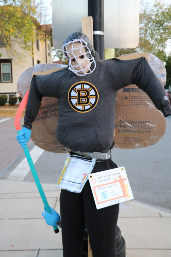 hockey mask scarecrow